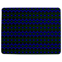 Split Diamond Blue Green Woven Fabric Jigsaw Puzzle Photo Stand (rectangular) by Mariart