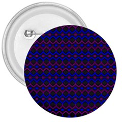 Split Diamond Blue Purple Woven Fabric 3  Buttons by Mariart