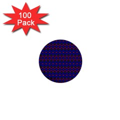 Split Diamond Blue Purple Woven Fabric 1  Mini Buttons (100 Pack)  by Mariart