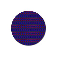 Split Diamond Blue Purple Woven Fabric Magnet 3  (round) by Mariart