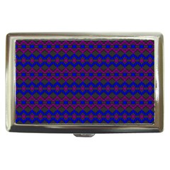 Split Diamond Blue Purple Woven Fabric Cigarette Money Cases by Mariart