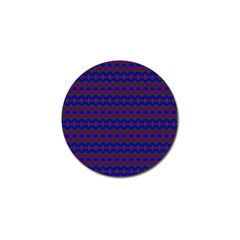 Split Diamond Blue Purple Woven Fabric Golf Ball Marker (4 Pack) by Mariart