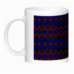 Split Diamond Blue Purple Woven Fabric Night Luminous Mugs by Mariart
