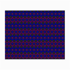 Split Diamond Blue Purple Woven Fabric Small Glasses Cloth by Mariart