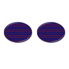 Split Diamond Blue Purple Woven Fabric Cufflinks (oval) by Mariart