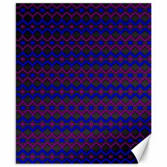 Split Diamond Blue Purple Woven Fabric Canvas 8  X 10  by Mariart
