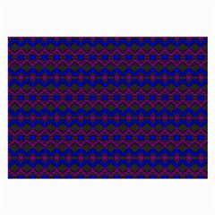 Split Diamond Blue Purple Woven Fabric Large Glasses Cloth by Mariart