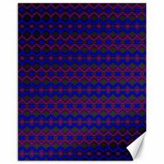 Split Diamond Blue Purple Woven Fabric Canvas 11  X 14   by Mariart