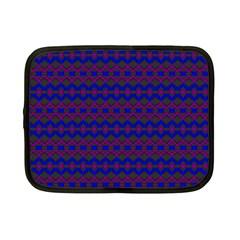 Split Diamond Blue Purple Woven Fabric Netbook Case (small)  by Mariart