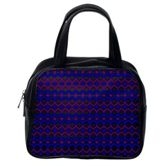 Split Diamond Blue Purple Woven Fabric Classic Handbags (one Side) by Mariart