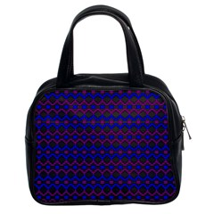 Split Diamond Blue Purple Woven Fabric Classic Handbags (2 Sides) by Mariart