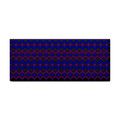 Split Diamond Blue Purple Woven Fabric Cosmetic Storage Cases by Mariart