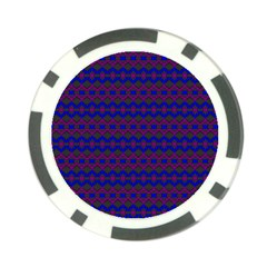 Split Diamond Blue Purple Woven Fabric Poker Chip Card Guard (10 Pack) by Mariart