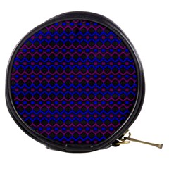 Split Diamond Blue Purple Woven Fabric Mini Makeup Bags by Mariart