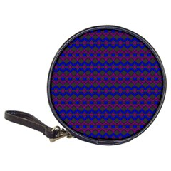 Split Diamond Blue Purple Woven Fabric Classic 20 Cd Wallets by Mariart
