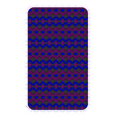 Split Diamond Blue Purple Woven Fabric Memory Card Reader by Mariart