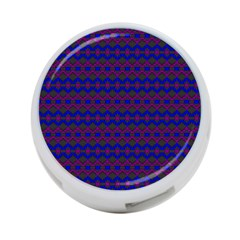 Split Diamond Blue Purple Woven Fabric 4 Port Usb Hub (two Sides)  by Mariart