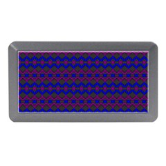 Split Diamond Blue Purple Woven Fabric Memory Card Reader (mini) by Mariart