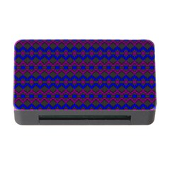 Split Diamond Blue Purple Woven Fabric Memory Card Reader With Cf by Mariart