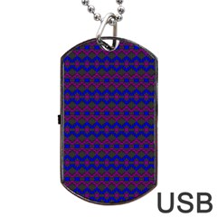 Split Diamond Blue Purple Woven Fabric Dog Tag Usb Flash (one Side) by Mariart