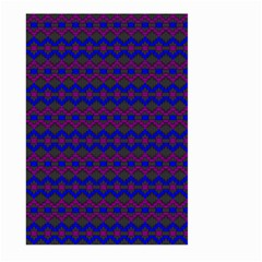Split Diamond Blue Purple Woven Fabric Large Garden Flag (two Sides) by Mariart