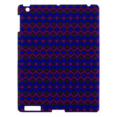 Split Diamond Blue Purple Woven Fabric Apple Ipad 3/4 Hardshell Case by Mariart