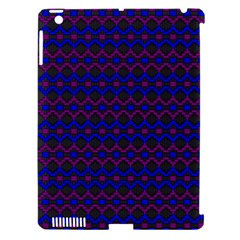 Split Diamond Blue Purple Woven Fabric Apple Ipad 3/4 Hardshell Case (compatible With Smart Cover) by Mariart