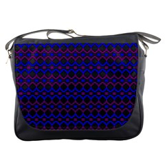 Split Diamond Blue Purple Woven Fabric Messenger Bags by Mariart