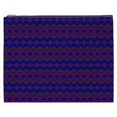 Split Diamond Blue Purple Woven Fabric Cosmetic Bag (xxxl)  by Mariart