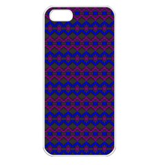 Split Diamond Blue Purple Woven Fabric Apple Iphone 5 Seamless Case (white) by Mariart