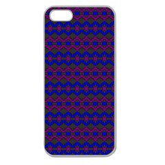 Split Diamond Blue Purple Woven Fabric Apple Seamless Iphone 5 Case (clear) by Mariart