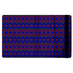 Split Diamond Blue Purple Woven Fabric Apple Ipad 3/4 Flip Case by Mariart