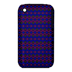Split Diamond Blue Purple Woven Fabric Iphone 3s/3gs by Mariart