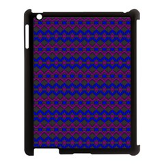 Split Diamond Blue Purple Woven Fabric Apple Ipad 3/4 Case (black) by Mariart