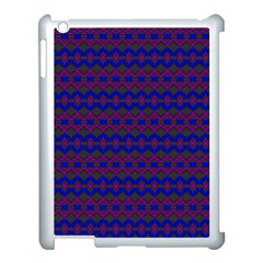 Split Diamond Blue Purple Woven Fabric Apple Ipad 3/4 Case (white) by Mariart