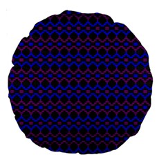 Split Diamond Blue Purple Woven Fabric Large 18  Premium Round Cushions by Mariart