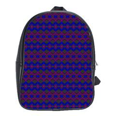 Split Diamond Blue Purple Woven Fabric School Bags (xl)  by Mariart