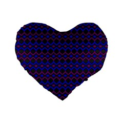 Split Diamond Blue Purple Woven Fabric Standard 16  Premium Heart Shape Cushions by Mariart