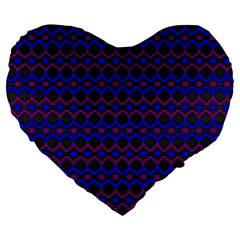Split Diamond Blue Purple Woven Fabric Large 19  Premium Heart Shape Cushions by Mariart