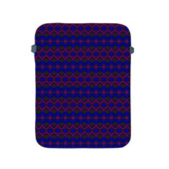 Split Diamond Blue Purple Woven Fabric Apple Ipad 2/3/4 Protective Soft Cases by Mariart