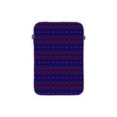 Split Diamond Blue Purple Woven Fabric Apple Ipad Mini Protective Soft Cases by Mariart