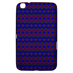 Split Diamond Blue Purple Woven Fabric Samsung Galaxy Tab 3 (8 ) T3100 Hardshell Case  by Mariart