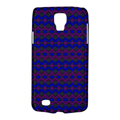 Split Diamond Blue Purple Woven Fabric Galaxy S4 Active by Mariart