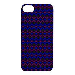 Split Diamond Blue Purple Woven Fabric Apple Iphone 5s/ Se Hardshell Case by Mariart