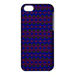 Split Diamond Blue Purple Woven Fabric Apple Iphone 5c Hardshell Case by Mariart