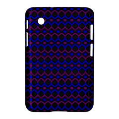 Split Diamond Blue Purple Woven Fabric Samsung Galaxy Tab 2 (7 ) P3100 Hardshell Case  by Mariart