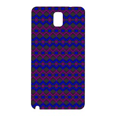Split Diamond Blue Purple Woven Fabric Samsung Galaxy Note 3 N9005 Hardshell Back Case by Mariart