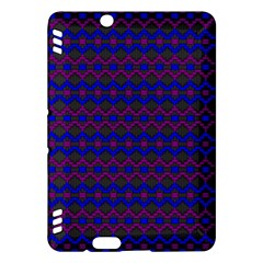 Split Diamond Blue Purple Woven Fabric Kindle Fire Hdx Hardshell Case by Mariart