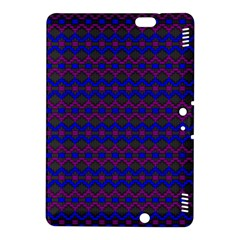 Split Diamond Blue Purple Woven Fabric Kindle Fire Hdx 8 9  Hardshell Case by Mariart