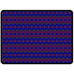 Split Diamond Blue Purple Woven Fabric Double Sided Fleece Blanket (large)  by Mariart